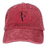 Gorra ajustable para hombre y mujer con diseño de plumas de Roger_Federer, color negro rojo Talla única
