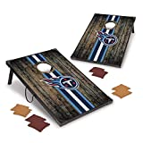 Wild Sports NFL Tennessee Titans 2' x 3' MDF Deluxe Cornhole Set - with Corners and Aprons, Team Color