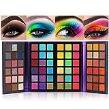 72 Farben Lidschatten Palette Bunt Eyeshadow Nudetöne Regenbogen Color Board Schminkpalette Set...