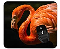 ゲーミングマウスパッドフラミンゴ鳥動物の羽オフィスマウスパッド 18x22cm