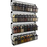 Farmhouse Style Hanging Spice Racks For Wall Mount - Easy To Install...
