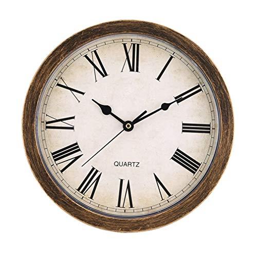 Bellaluee Caja de Almacenamiento de Reloj de Pared Retro de Estilo Europeo, decoración de Sala de Estar, Caja de Almacenamiento Redonda Vintage única