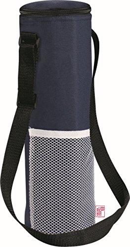 Isolierte Kühltasche mit Gurt für eine 1,5 Liter Flasche- Picknick Drinks Träger / Weinkühler von noTrash2003® (Navy)