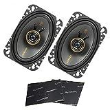 Best Harmony Audio Car Speakers - Kicker 47KSC4604 Car Audio 4x6 Coaxial 300W Peak Review