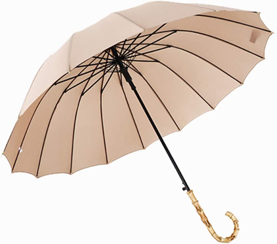 Household Products Bamboo Curved All items free shipping Handle Easy-to-use Umbrella Double Ha Long