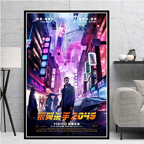 Blade Runner 2049 Movie Vintage Prints Media Wall Decor Retro Posters Art Solaris Wall Art Canvas Schilderij Frameloos Schilderij 40X50Cm
