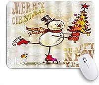 EILANNAマウスパッド クリスマス雪だるま新年 ゲーミング オフィス最適 高級感 おしゃれ 防水 耐久性が良い 滑り止めゴム底 ゲーミングなど適用 用ノートブックコンピュータマウスマット