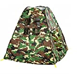 Zewik Kids Pop-up Play Tent Children Green Camouflage Triangle Canopy Pretend Army War Soldier Best Gift
