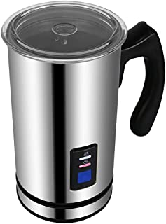 Red tide Automatic Electric Milk Frother Foamer, Stainless Steel Container for Cappuccino Coffee Machine Maker Hot/Cool 500W