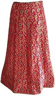Sneh Women's Designer Banarasi Silk Lehenga Style Pink Skirt