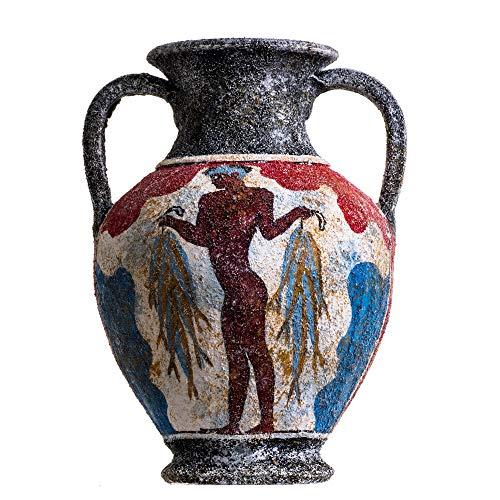 Antico Greco Minoico Anfora Pescatore In Ceramica Fatto A Mano Vaso In Ceramica Medio