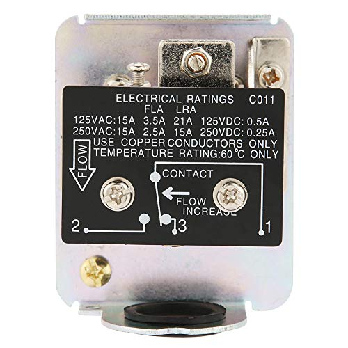 Controlador de flujo 1.0MPa Interruptor de flujo de agua 1/2'6-380V SPDT para medir el estado dinámico del flujo de líquido