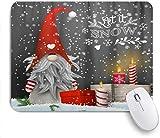 Mobeiti Gaming Mouse Pad, Winter Weihnachten Gnom Weihnachten Schneeflocken Kerzen Geschenk moderne rutschfeste Gummi Backing Mousepad für Notebooks Computer Maus Matten