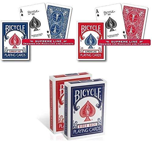 Bicycle 4 mazzi di Carte : 2 Old Case + 2 Supreme Line