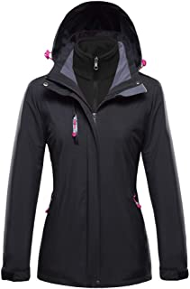 Women Professional Outdoor Raincoats with Lining and Removable Hoodie Windproof Waterproof Rain Jacket