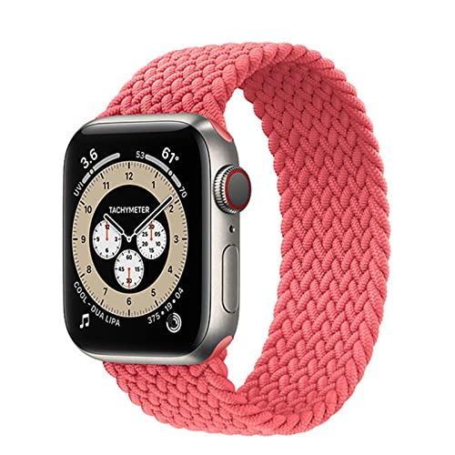 Correa trenzada de bucle individual para Apple Watch Band 42 mm 38 mm 40 mm 44 mm Tela NylonPulseraelásticaSerie iWatch 3 4 5 Se 6 Correa