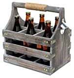 DanDiBo Bierträger aus Holz mit Öffner 93860 Flaschenträger Flaschenöffner Flaschenkorb Männerhandtasche Männergeschenke