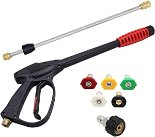 Twinkle Star 3000 PSI High Pressure Power Washer Gun, 21 Inch Replacement Wand, 5 Spray Nozzles Tips, 3/8