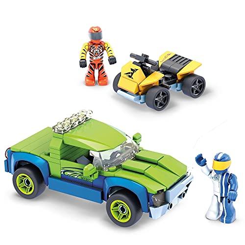 Mega GYG21 - Mega Contrux + Hot Wheels Off-Duty Fahrzeug und ATV zum zusammenbauen, Spielzeugauto Bauset, für Kinder ab 5 Jahren
