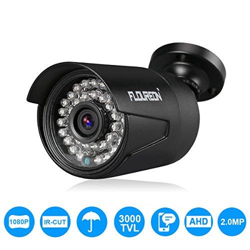 FLOUREON Security Camera 1080P HD CCTV IR Nachtsicht Wetterfest Video Kamear