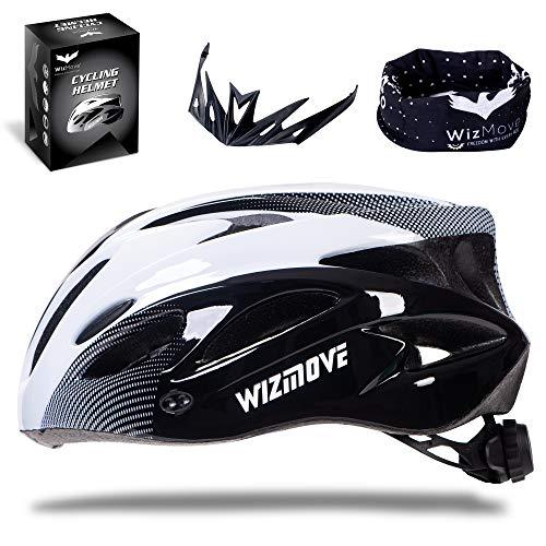 WizMove Casco Bicicleta, MTB Casco de Ciclismo Ligero con Visera, Protección...
