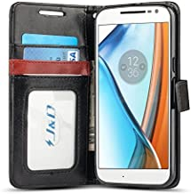 J&D Case Compatible for Moto G4 Case/Moto G4 Plus Case, [Wallet Stand] [Slim Fit] Heavy Duty Shock Resistant Flip Cover Wallet Case for Motorola Moto G4/G4 Plus Wallet Case - [Not for Moto G4 Play]
