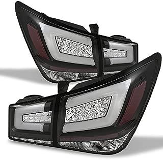 For 11-15 Chevy Cruze J300 Black Bezel LED Light Tube Design Full LED Tail Lights Brake Lamps 4pcs Set