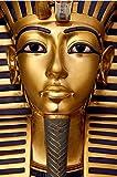 VVBGL Pintura de Lienzo de faraones egipcios Antiguos Dorados, póster e Impresiones religiosos, Arte de Pared nórdico, Salon de Estar Moderna, Decoracion del hogar, Cuadros 60x90cm sin Marco