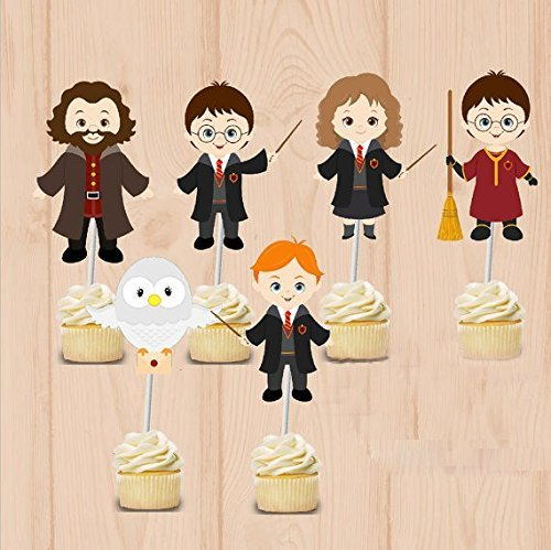 S&T Best Service Harry Potter Party Cupcake Toppers Harry Potter Birthday Party Decorations Party Supplies Birthday Party Decorations Kids