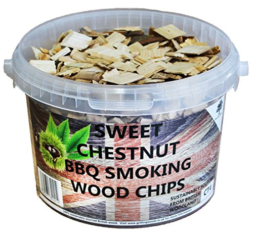 3 Litre BBQ Smoking British Wood Chips (Sweet Chestnut)