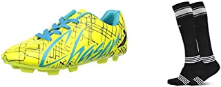 Vector X CHASER-KIDS-GRN-BLK-FIROZI-12 Football Shoes12 UK (multicolour)