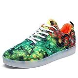 LED Zapatos,Shinmax Zapatillas LED USB de Carga de 7 Colores de Luz Zapatillas...