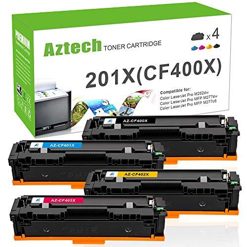 Aztech Kompatibel 201X Toner Cartridge Replacement für HP CF400X Toner für HP Color Laserjet Pro MFP M277dw M252dw M277n M274n M252n Toner HP MFP M277 dw M252dw M277n M274n M252n Toner CF400A 201A