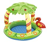 Piscina Hinchable Infantil con Parasol Bestway Friendly Jungle