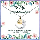 NEWNOVE Granddaughter Gifts from Grandma I Love You to The Moon and Back Necklace Best Christmas Birthday Gifts for Granddaughter