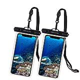 UNBREAKcable Funda Impermeable Universal - Bolsa para móvil estanca a Prueba de Agua IPX8 para iPhone XS MAX/XR/XS/X / 8 / 8plus / 7 Samsung Galaxy S10Plus / S10 Huawei P30 Pro / P30-2 Paquete