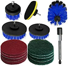 14PC Drill Brush Tub Clean Electric Grout Power Scrubber Cleaning Set Tool Kit (Blue)