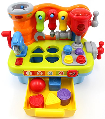 CifToys Musical Learning Workbench Toy for Kids Construction Work Bench Building...