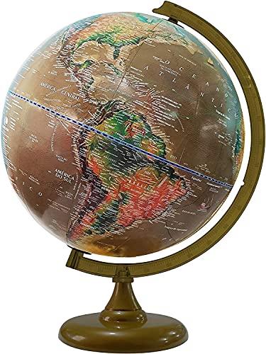 Globo Terrestre Satélite - Físico e Histórico + Mapa Mundi