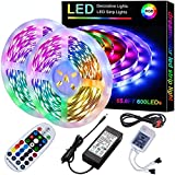 ZZSSC LED Strip Lights 15M Superrise Super Long 50ft Dazzling Light Strip Dimmable DreamColor LED Rope Light 5050 Leds Color Changing Tape Lights for Room Kitchen Patio Party Decoration 20M