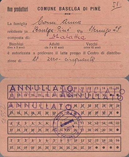 Comune di Baselga di Pinè: non produttori. ...è autorizzato a prelevare il latte presso il centro di distribuzione...