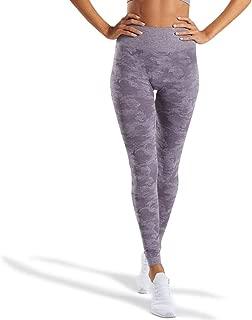 Women's High Waisted Camo Seamless Yoga Pants 7/8 Length Capri Leggings