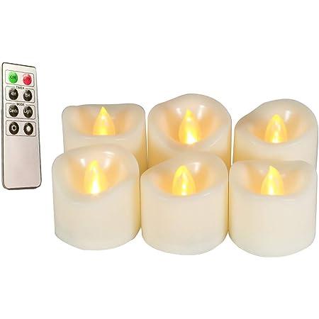 Aerbee LED Teelicht Kerzen Flammenlosen LED Kerzen mit Batterie Flackernde Elektrische teelichter mit 12 Fledermau Aufkleber f/ür Halloween Dekoration 12er Pack