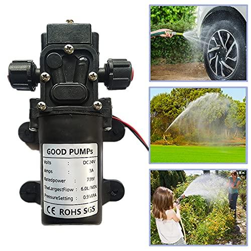 24V Wasserpumpen,VerRich selbstansaugende Hochdruck Mikromembranpumpe für Wohnmobile, Wohnwagen