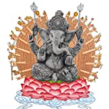 Pevfeciy La Escultura de Resina Piedra Arenisca Hue Buddism Godness Guanyin Estatua Hecha a Mano estatuilla Feng Shui Decoración Vignéswara,F