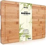 Tabla de Cortar De Bambú Orgánico Superior De Harcas. Tabla de Cortar Extra Grande 44.5cm X 30cm X...