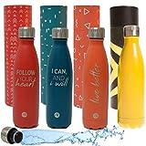 Sternitz Botella de Agua Hydra Acero Inoxidable con Aislamiento al vacio. Mantiene Tus Bebidas frías por 24 Horas y Calientes por 12 Horas. Water Bottle (Apple Red)