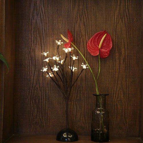 KABSJ mood light Lampe LED Lampe veilleuse Lampe Style Feux Lampe Arbre String, fonctionnant sur Batterie,[Petit Cerisier],Lumière Blanche Chaude