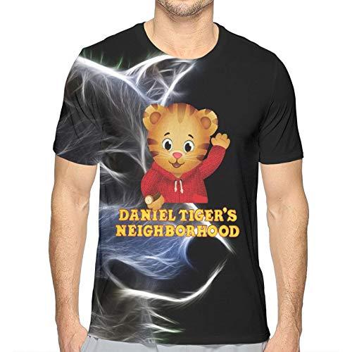 Good4Yours Camiseta clásica para Hombre Barrio de Daniel-Tiger Camiseta Estampada en 3D Camisetas Casuales de Manga Corta con Cuello Redondo