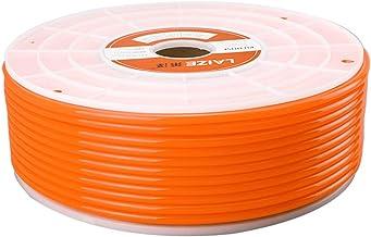 Beduan Pneumatic Tubing Pipe, 8mm x 5mm Orange 291ft/89Meter, Air Compressor PU Hose Line Tube for Fluid Transfer